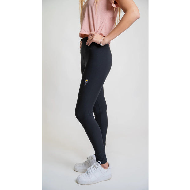 Women's Athletic Leggings::Black