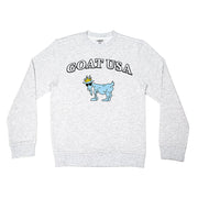 The Big GOAT Crewneck::White