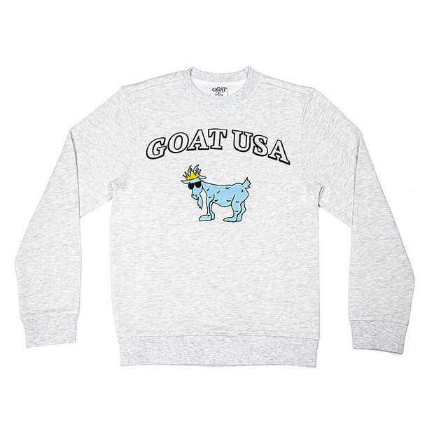 "The ""Big GOAT"" Crewneck::White"