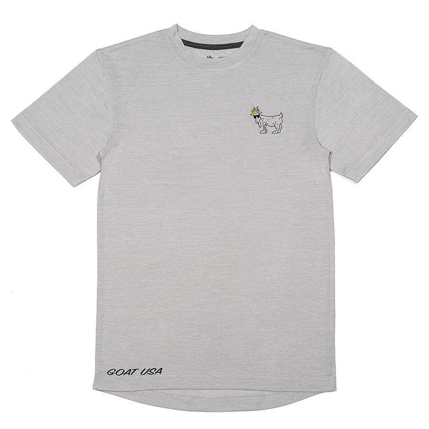 GOAT USA Fit - T-shirt::Heather white