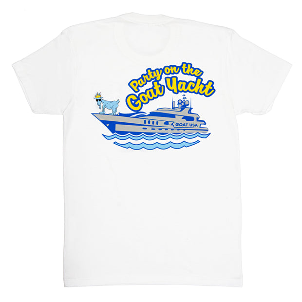 Party On The GOAT Yacht T-Shirt::White