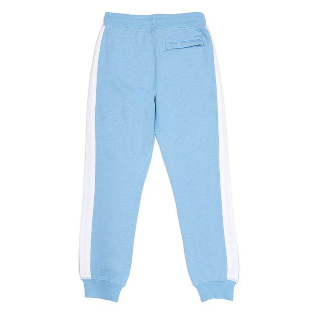 Fleece Joggers (with Stripe)::Carolina Blue