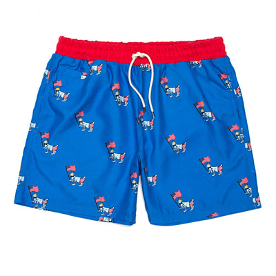 Patriotic Men's Bathing Suit::Royal