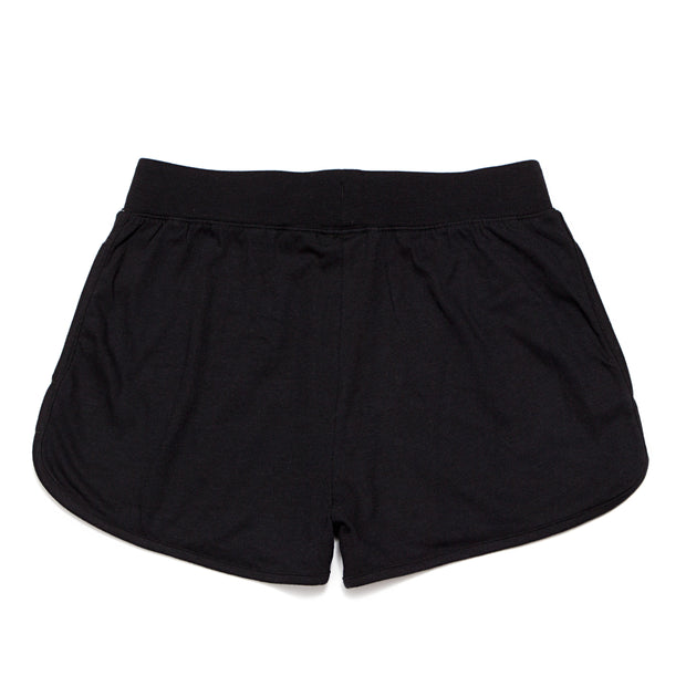 Women's Relaxed Sweat Shorts::Black