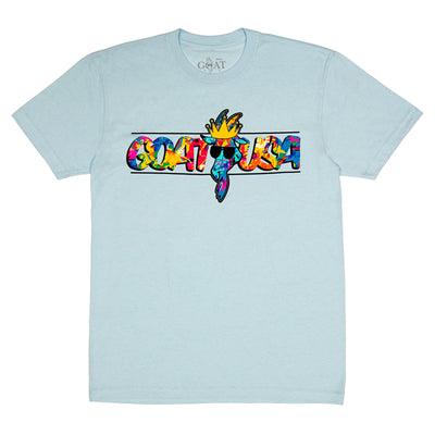 Postcard T-Shirt:: Ice Blue