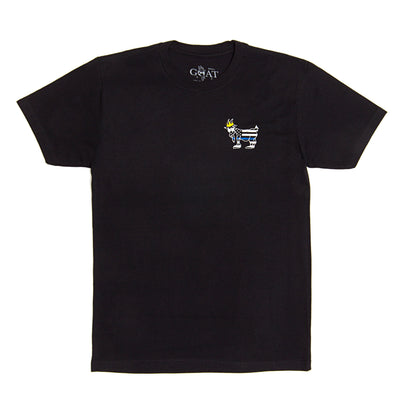 Blue Line T-Shirt::Black