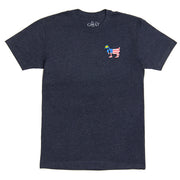 Big GOAT Freedom T-Shirt::Navy