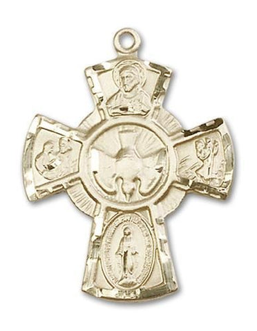 5-Way 14kt Gold Medal - Gerken's Religious Supplies