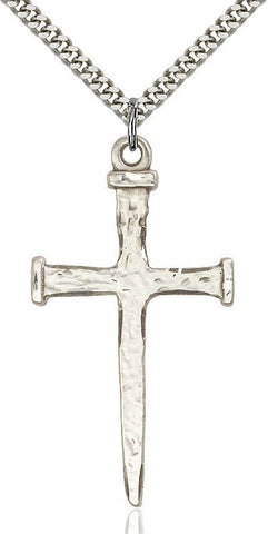 Nail Cross Sterling Silver Pendant - Gerken's Religious Supplies