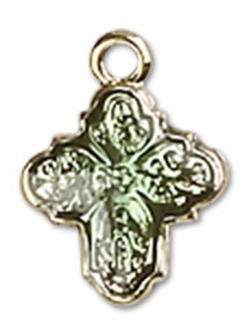 4-Way 14kt Gold Medal - Gerken's Religious Supplies
