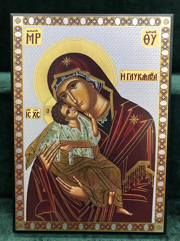 Sweet Kissing Icon - Large - Gerken's Religious Supplies