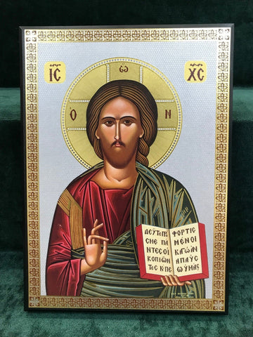 Christ Blessing Icon - Large - Gerken's Religious Supplies