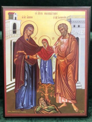 St. Joachim & St. Anne Icon - Large - Gerken's Religious Supplies
