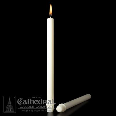 "1-1/16"" X 16-3/4"" 51% Beeswax Candles - Gerken's Religious Supplies"