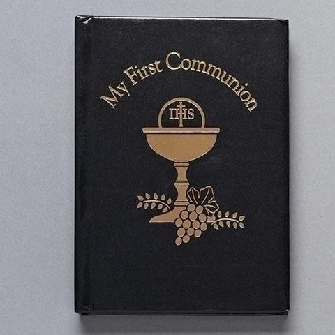 Boy First Communion Book with Chalice Design - Gerken's Religious Supplies