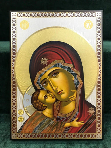 Virgin Mary & Child Icon - Large - Gerken's Religious Supplies