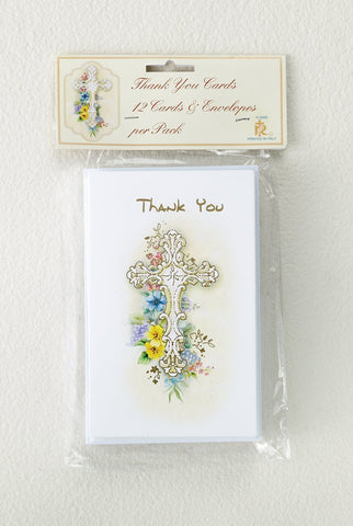 Thank You Cards with Cross Design - Gerken's Religious Supplies