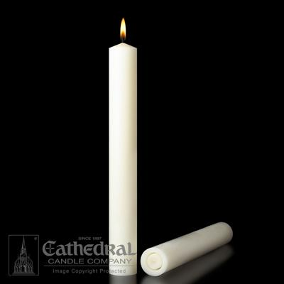 "2-1/2"" X 17""  51% Beeswax Candles"
