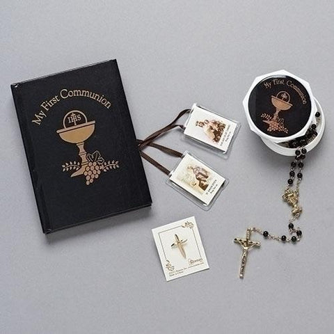 First Communion 5 Piece Gift Set - Boy Chalice Design - Gerken's Religious Supplies