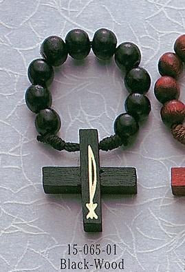 Black Wood Rosary Ring - Gerken's Religious Supplies