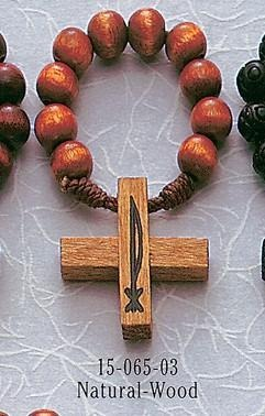 Natural Wood Rosary Ring - Gerken's Religious Supplies