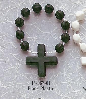 Black Plastic Rosary Ring - Gerken's Religious Supplies