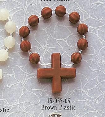 Brown Plastic Rosary Ring - Gerken's Religious Supplies