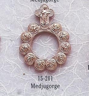 Our Lady of Medjugorje Rosary Ring - Gerken's Religious Supplies