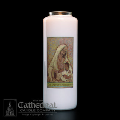 Our Lady of Czestochowa 6 Day Candle