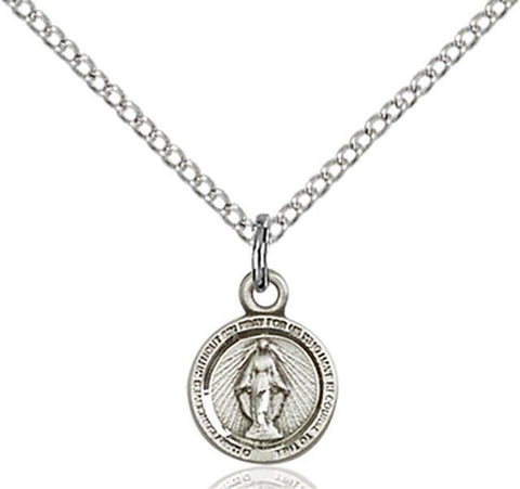 Miraculous Sterling Silver Pendant - Gerken's Religious Supplies