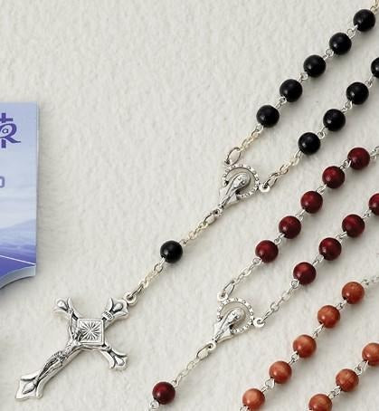 Black Wood Auto Rosary - Gerken's Religious Supplies