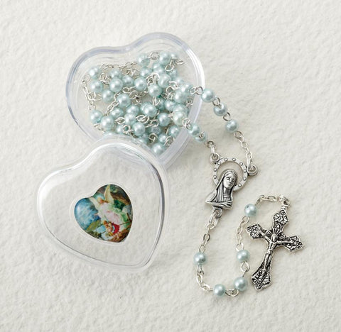 Pearl Bead Baptismal Rosary - Gerken's Religious Supplies