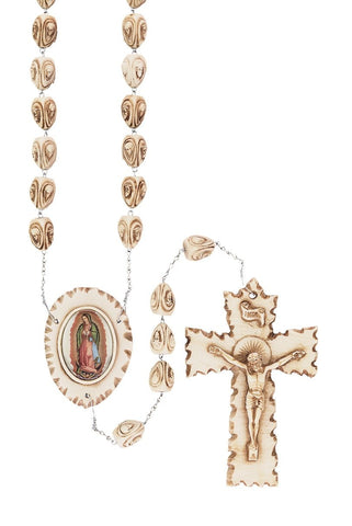Our Lady of Guadalupe Stoneware Wall Rosary - Gerken's Religious Supplies