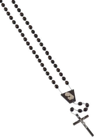 Wood Oval Bead Wall Rosary - Gerken's Religious Supplies