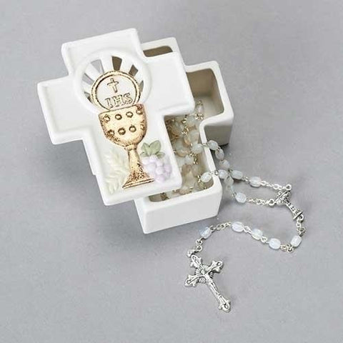 Chalice Shaped First Communion Keepsake Box - Gerken's Religious Supplies