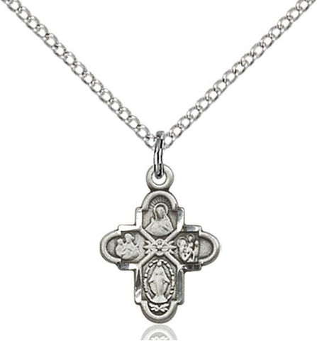 4-Way Sterling Silver Pendant - Gerken's Religious Supplies