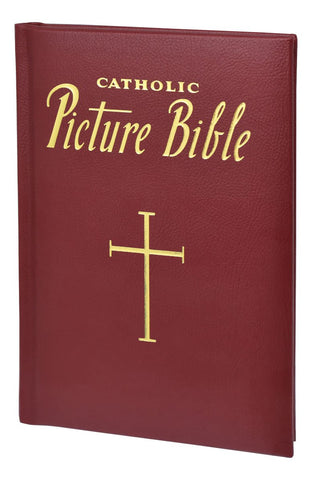Catholic Picture Bible - Burgundy - Gerken's Religious Supplies