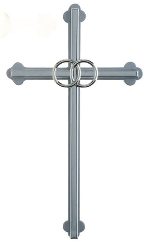 "6"" Silver Wedding Cross - Gerken's Religious Supplies"