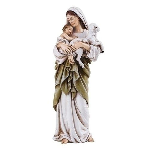 "Madonna and Child with Lamb 4"" Statue - Gerken's Religious Supplies"