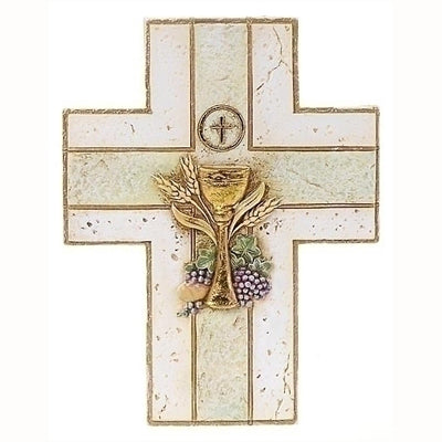 Chalice & Grapes First Communion Wall Cross
