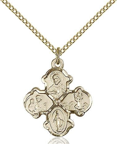 4-Way Gold Filled Pendant - Gerken's Religious Supplies