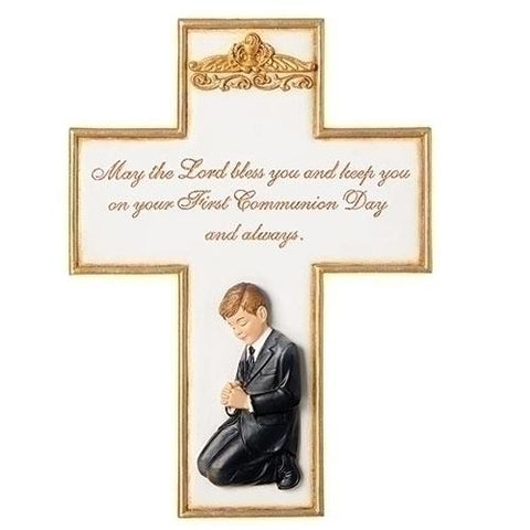 Boy First Communion Wall Cross - Gerken's Religious Supplies