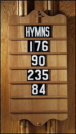 Extra Set of Numerals & Hymns - Gerken's Religious Supplies