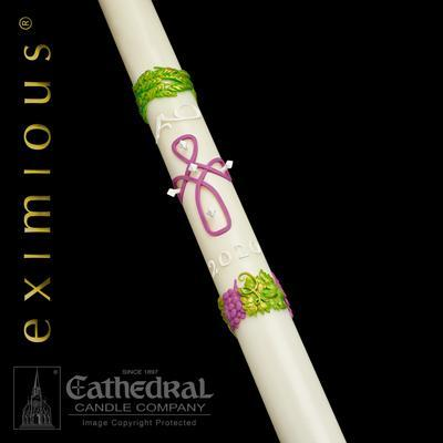 "2-3/16"" x 48"" Remembrance Eximious Paschal Candle - Gerken's Religious Supplies"