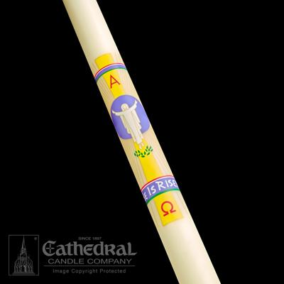 "2-1/16"" x 42"" He Is Risen Paschal Candle"
