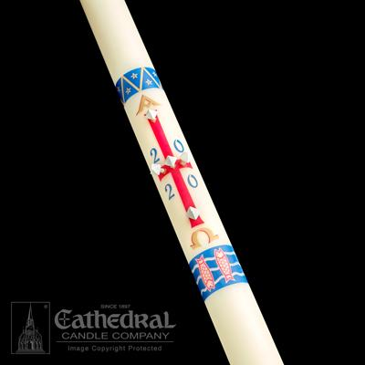 "2-3/16"" x 48"" Benedictine Paschal Candle"