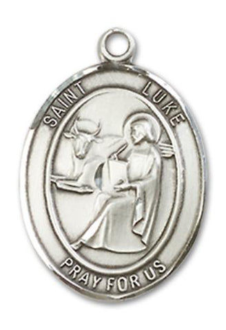 St. Luke the Apostle Sterling Silver Medal
