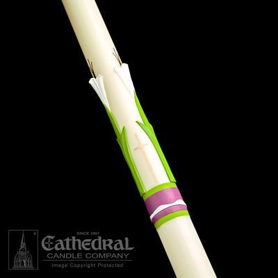 "3-1/2"" x 62"" Easter Glory Paschal Candle"