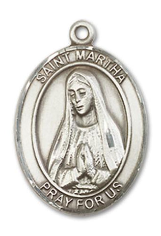 St. Martha Sterling Silver Medal