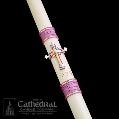 "2-1/2"" x 60"" Jubilation Paschal Candle"